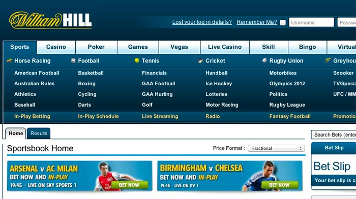 william hill calculator